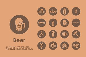 16 beer icons