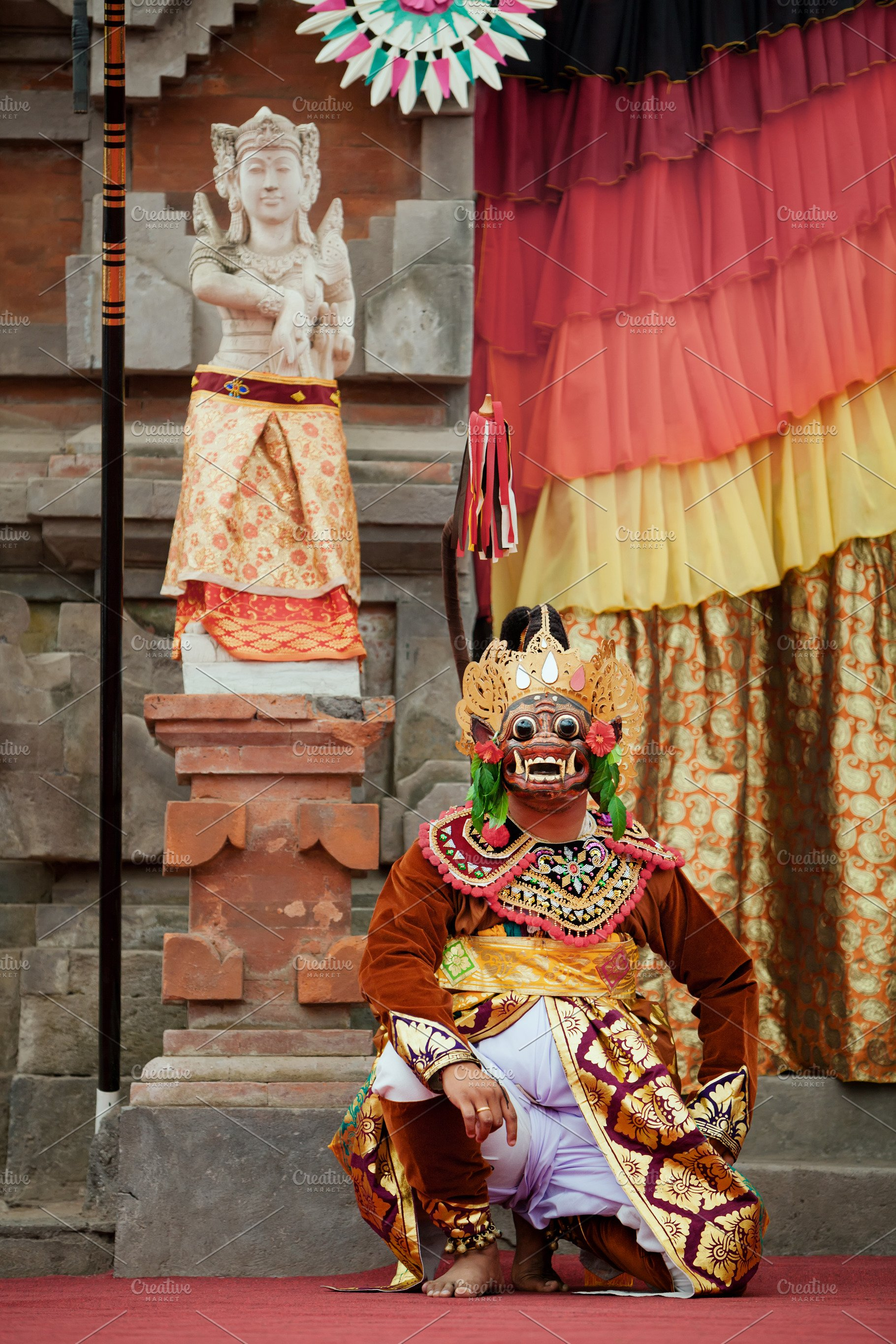 Traditional Balinese Topeng Costume