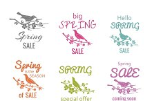 Vector spring sale badge signs