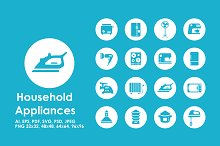 16 household appliances icons