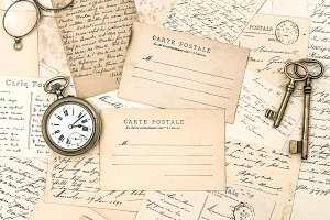 Antique letters and postcards