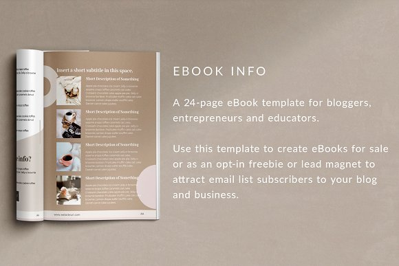 eBook Canva Template | Nordic in Magazine Templates - product preview 1