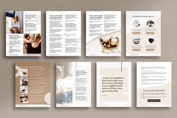 eBook Canva Template | Nordic in Magazine Templates - product preview 4