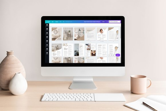 eBook Canva Template | Nordic in Magazine Templates - product preview 8