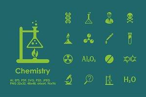 16 chemistry icons
