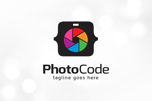 Photo Code Logo Template
