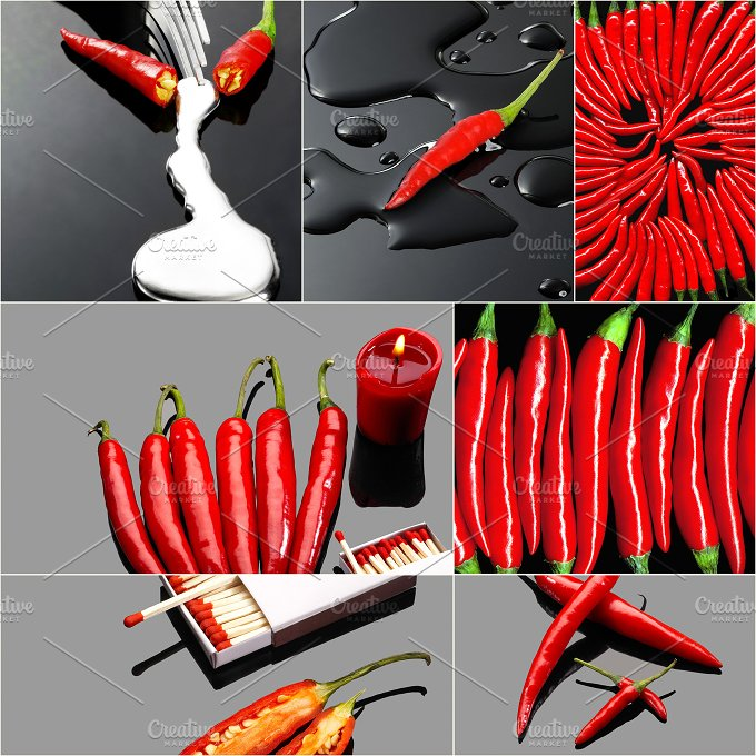 red hot chili collage 3.jpg - Food & Drink