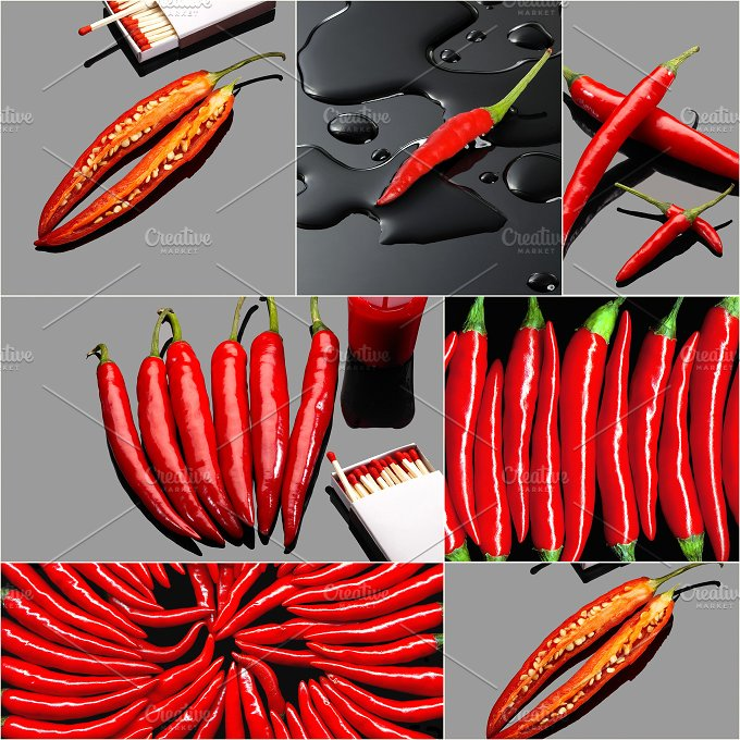 red hot chili collage 2.jpg - Food & Drink