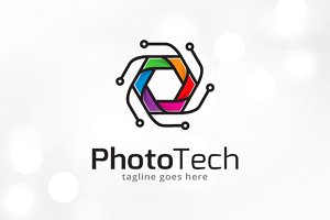 Photo Technology Logo Template