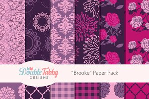 "Purple and Pink Paper Pack ""Brooke"""