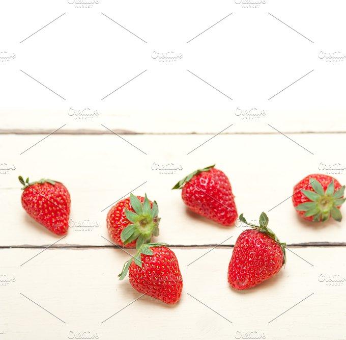 strawberries on white wood table 008.jpg - Food & Drink