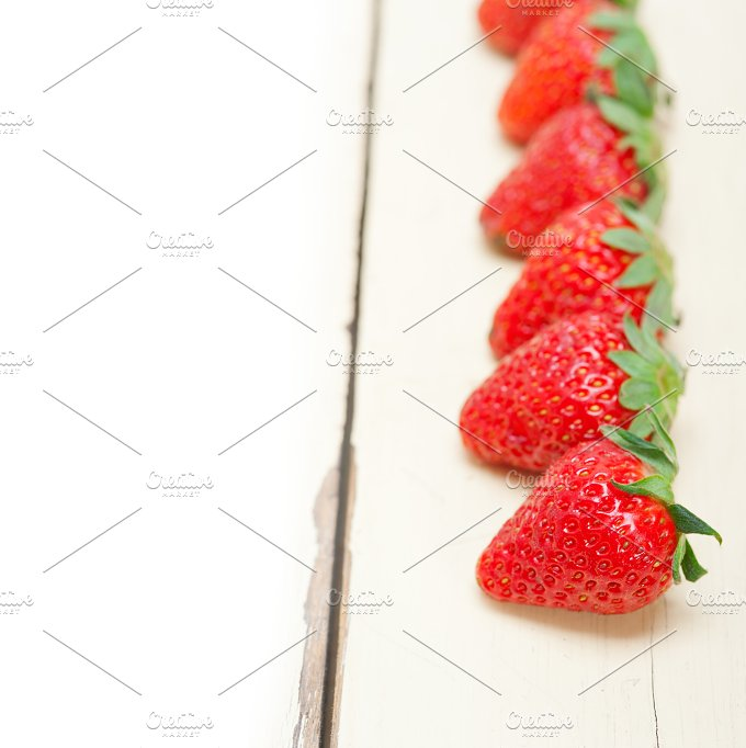 strawberries on white wood table 018.jpg - Food & Drink