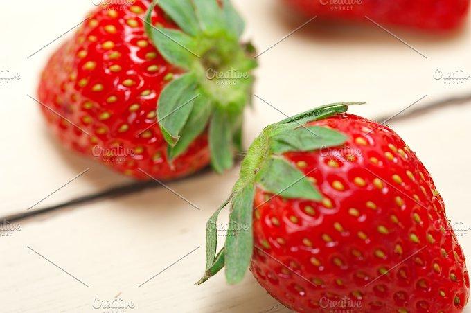 strawberries on white wood table 014.jpg - Food & Drink