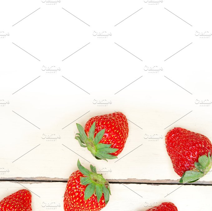 strawberries on white wood table F 009.jpg - Food & Drink