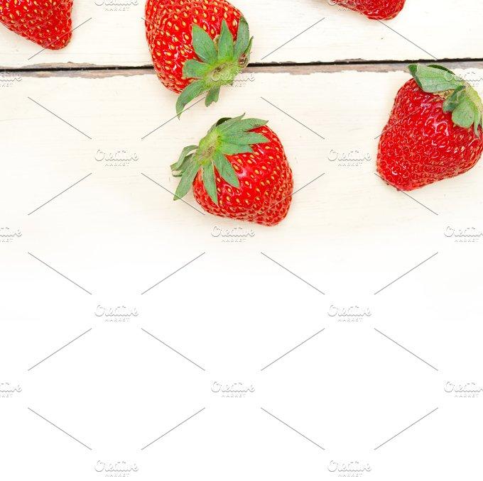 strawberries on white wood table 009.jpg - Food & Drink