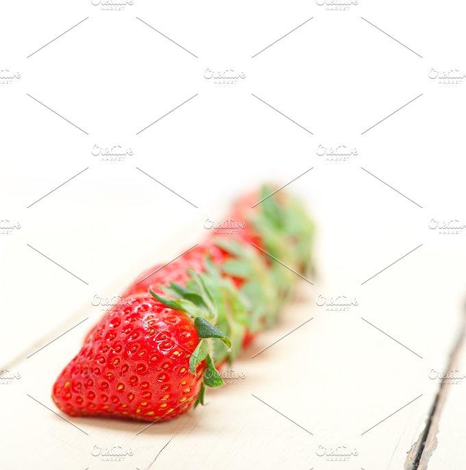 strawberries on white wood table 019.jpg - Food & Drink