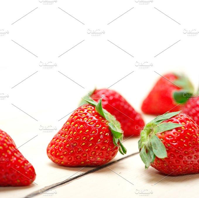 strawberries on white wood table 012.jpg - Food & Drink