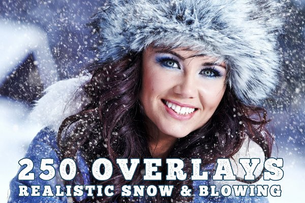 250 Snow effect overlays, blowing
