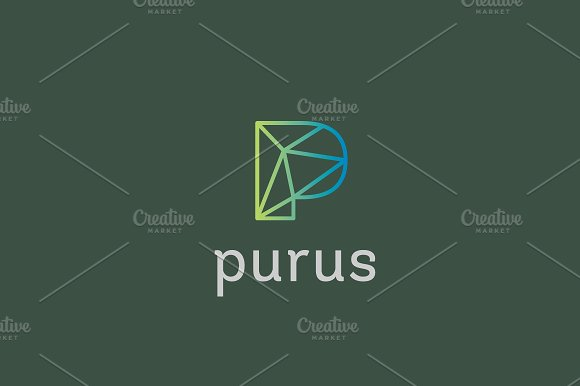 abstract trend letter p line logo logos