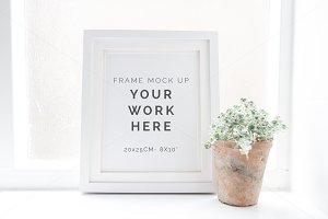 Styled white frame mock up - 9600