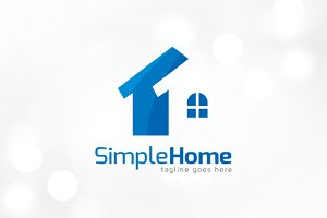 Simple Home Logo Template
