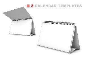 2 Desk Calendar 3D Templates