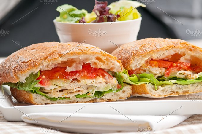 tomato and chicken ciabatta sandwich 22.jpg - Food & Drink