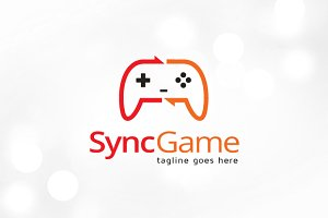 Sync Game Logo Template