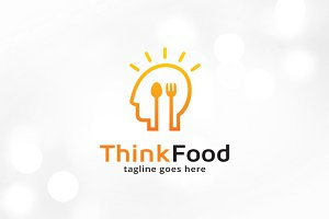 Think Food Logo Template