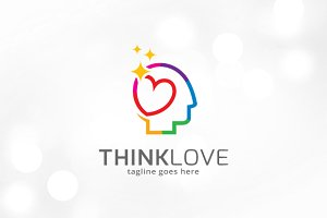 Think Love Logo Template