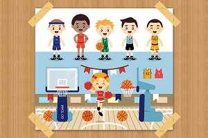 Basketball Clipart/Sports clipart