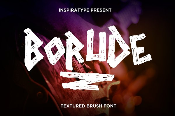 Borude - Textured Brush Font
