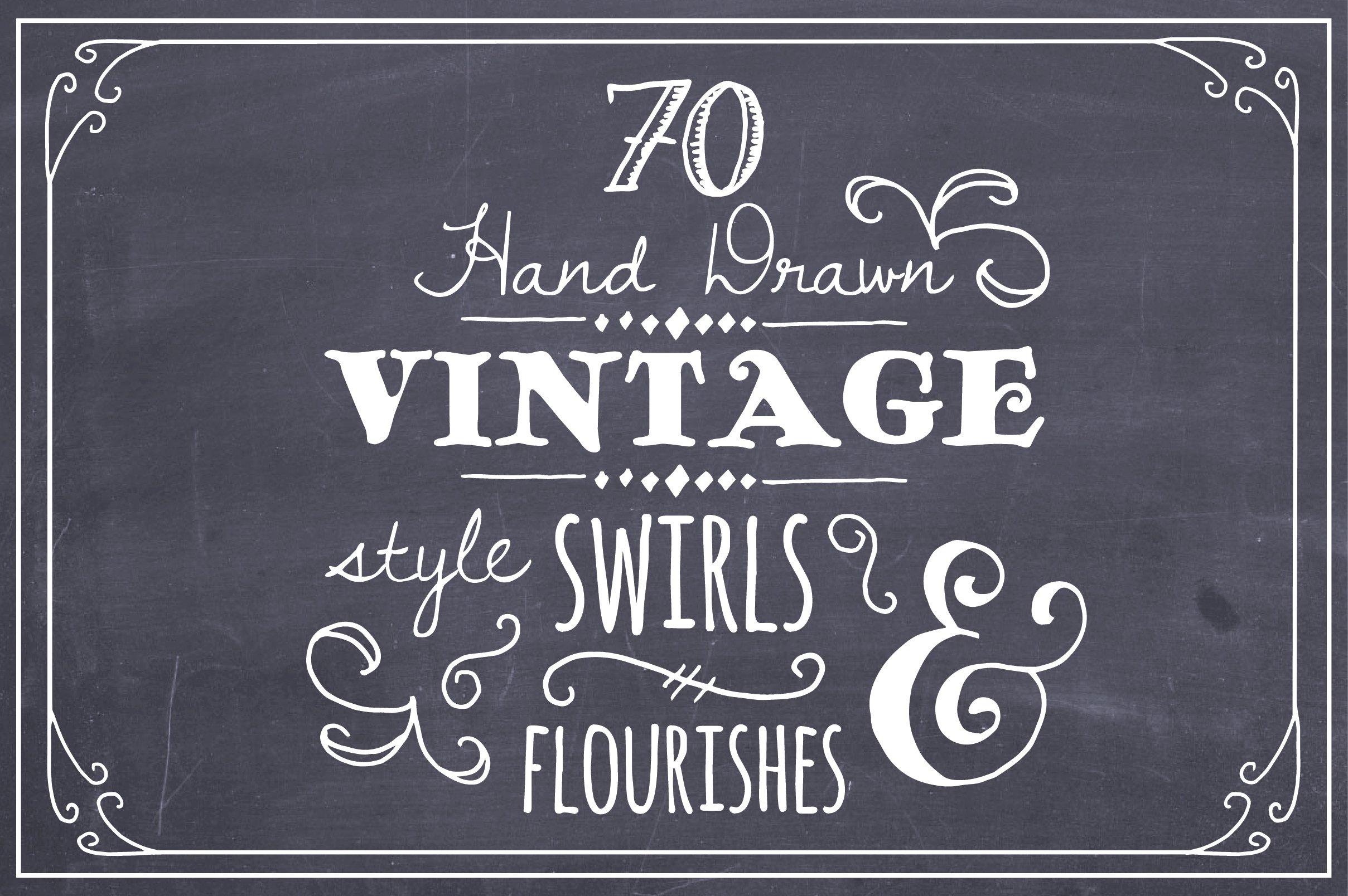 Hand Drawn Swirls Flourishes Graphics Creative Market