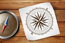 Vector compass rose (windrose) - 2.