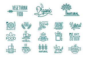 Labels elements for organic food