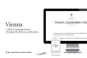 Vienna - Clean, typography theme
