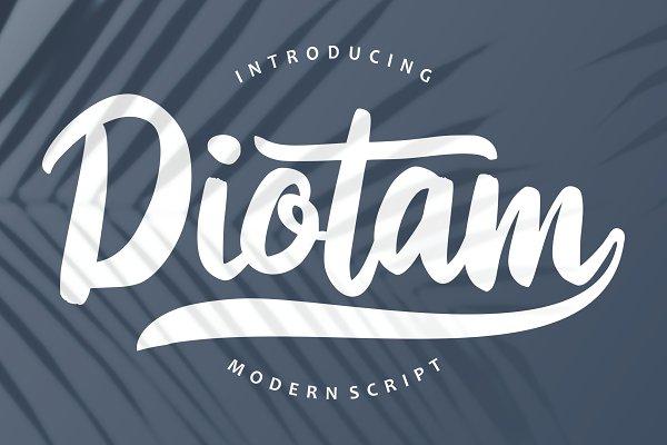 Diotam | Modern Script Font