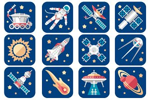 Universe and Space icons
