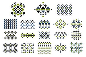 Geometric elements, pattern, ethnic