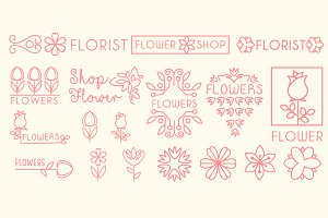 Floral and gardening logos and sign