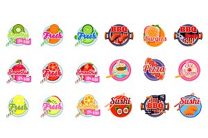 Stickers of food and drink