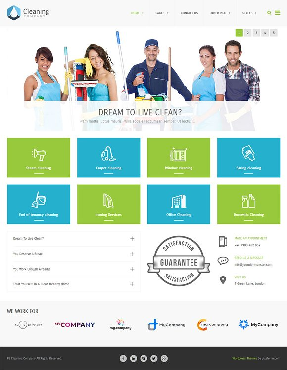 Cleaning company wordpress theme wordpress business themes cleaning company wordpress theme wordpress business themes creative market accmission Image collections