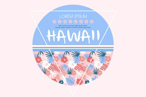 Hawaii beach t-shirt graphics, vecto