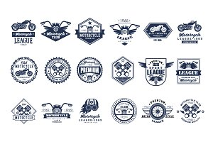 Badges, emblems Motorcycle Set