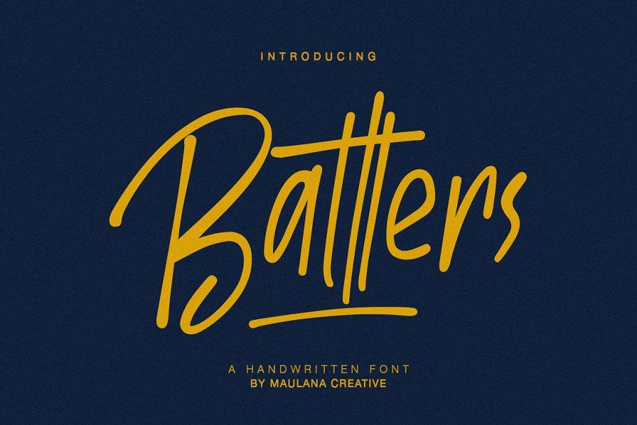 Batllers Handwritten Font