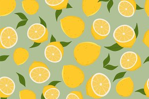 Pattern of lemons.