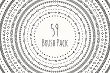 59 Vector Line Doodle Brush Pack