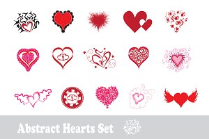 Abstract Hearts Set