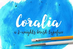 Coralia - a 2-weights brush typeface