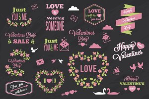 Valentines day elements